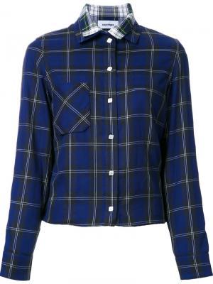 Рубашка в клетку Courrèges. Цвет: синий