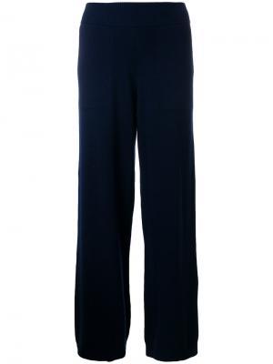 Повседневные брюки-палаццо Barrie. Цвет: синий