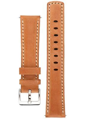 Спортивный ремешок для часов из кожи теленка с водостойкостью 100 м. Ширина от 18 до 24 мм. Signature. Цвет: светло-коричневый
