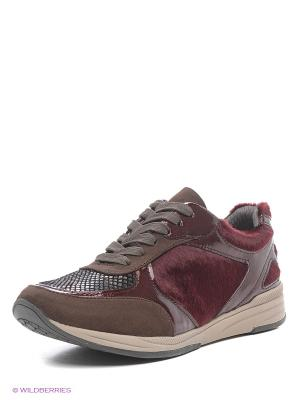 Кроссовки ARA. Цвет: коричневый, бордовый