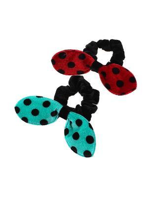 Резинка для волос (Комплект - 2 шт.) Migura. Цвет: черный,зеленый,красный