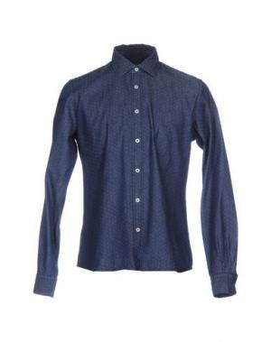 Джинсовая рубашка ANDREA MORANDO. Цвет: синий