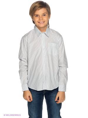Рубашка PlayToday. Цвет: белый, синий, серый