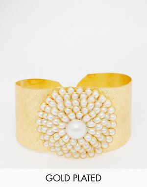 Taara Jewellery Позолоченный браслет-манжета. Цвет: золотой