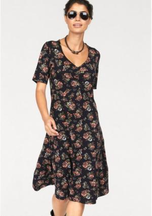 Платье BOYSENS BOYSEN'S. Цвет: черный/красный/с рисунком