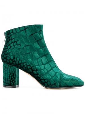 Ботинки с закругленным носком и принтом Jean-Michel Cazabat. Цвет: зелёный
