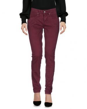 Повседневные брюки HANNY DEEP. Цвет: красно-коричневый