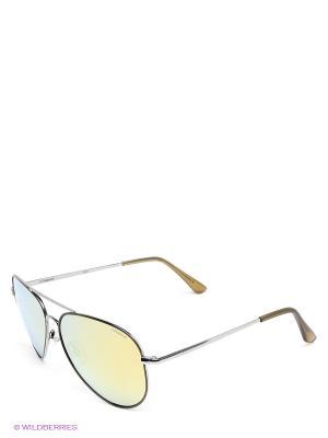 Солнцезащитные очки Polaroid. Цвет: серебристый, желтый