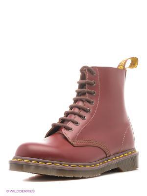 Ботинки Dr.Martens. Цвет: красный