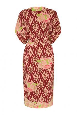 Шелковое платье Simone Rocha. Цвет: красный