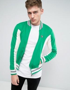 Fila Vintage Спортивная куртка. Цвет: зеленый