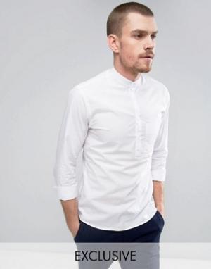 Noak Рубашка слим с воротником на пуговицах. Цвет: белый