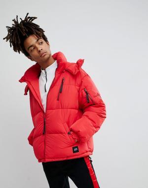 Sixth June Красная дутая куртка. Цвет: красный