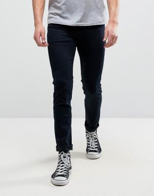 Rollas Супероблегающие джинсы Stinger. Цвет: темно-синий