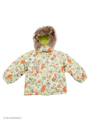 Куртка Baby Club. Цвет: светло-зеленый, серый, оранжевый