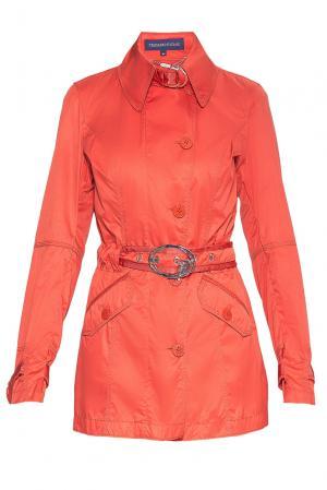 Плащ с поясом BY-182340 Trussardi Jeans. Цвет: оранжевый
