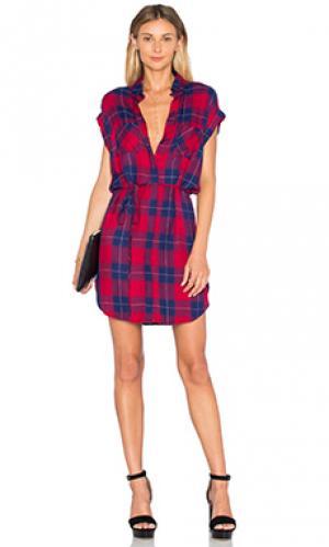 Платье haley Rails. Цвет: красный