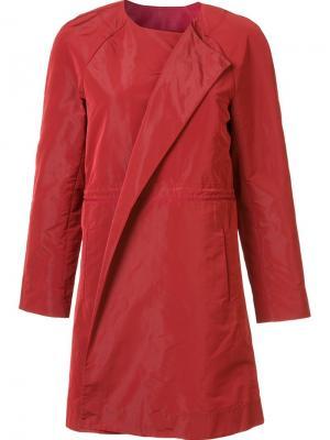 Пальто без воротника Lafayette 148. Цвет: красный
