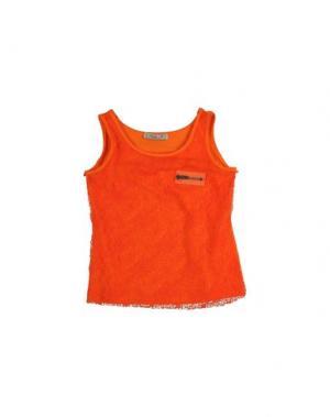 Футболка без рукавов MIMISOL. Цвет: оранжевый