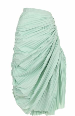 Плиссированная юбка-миди с драпировкой Marni. Цвет: светло-зеленый