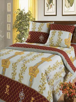 Постельное белье Королевская постель Арт. Цвет: белый, серый, бордовый, золотистый