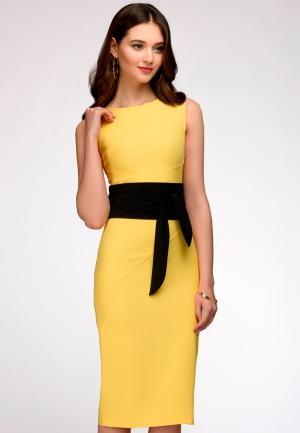 Платье 1001dress. Цвет: желтый
