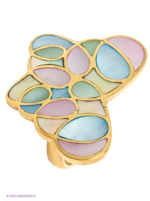 Кольцо Infiniti. Цвет: золотистый, голубой, розовый
