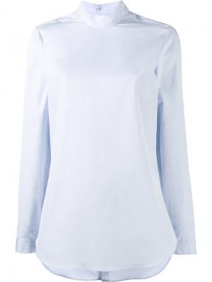 Блузка с длинными рукавами Marie Marot. Цвет: синий