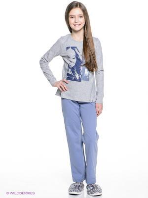 Пижама Sanetta. Цвет: серый меланж, голубой