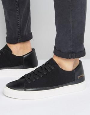 Systvm Черные низкие кроссовки. Цвет: черный