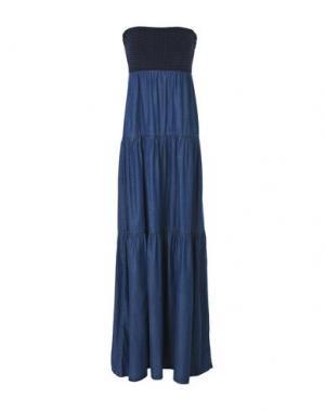 Длинное платье LIU •JO JEANS. Цвет: синий