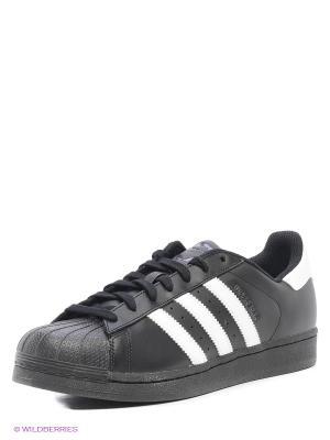 Кроссовки SUPERSTAR FOUNDATION Adidas. Цвет: черный