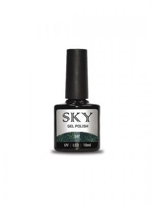 Гель-лак SKY 10 мл №147,. Цвет: зеленый, темно-зеленый