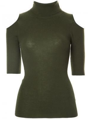 Open shoulder jumper Zoe Jordan. Цвет: зелёный
