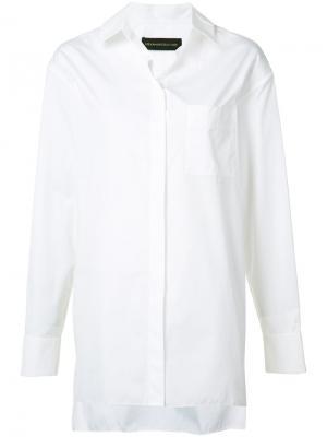 Рубашка свободного кроя на пуговицах Alexandre Vauthier. Цвет: белый