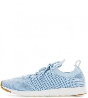 Голубые текстильные кроссовки на шнуровке Native. Цвет: голубой