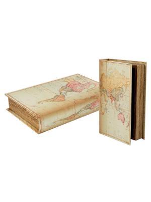 Шкатулка Карта Русские подарки. Цвет: темно-серый