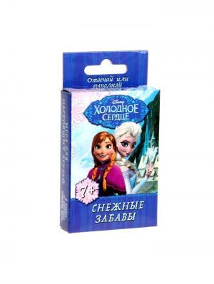 Игра вопрос-ответ Снежные забавы, Холодное сердце Disney. Цвет: синий, морская волна, бирюзовый, светло-коралловый, бежевый, молочный