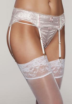 - Rosalia пояс для чулок Кремовый-розовый Diamor