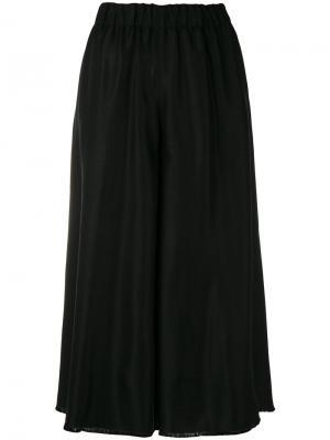 Широкие брюки-юбка Forte. Цвет: чёрный