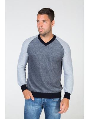 Пуловер John Jeniford. Цвет: синий