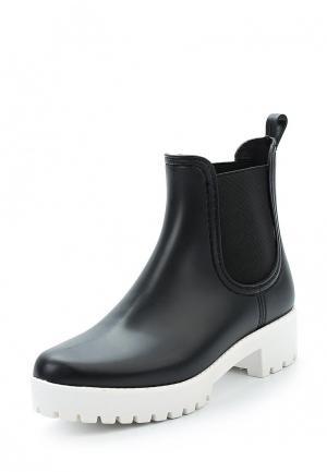 Резиновые ботинки Mon Ami. Цвет: черный