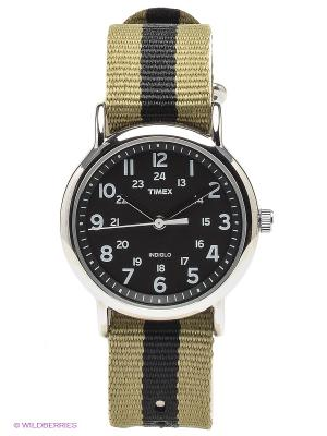 Часы TIMEX. Цвет: серебристый, хаки