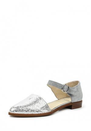 Туфли KMB. Цвет: серебряный