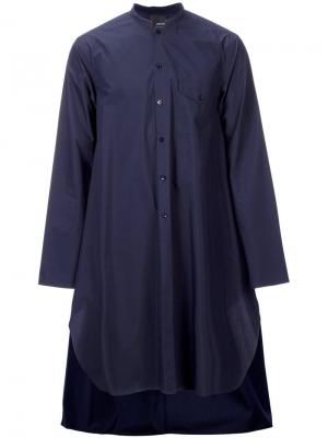 Mandarin neck long shirt Yoshio Kubo. Цвет: синий