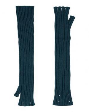 Перчатки MAISON MARGIELA. Цвет: цвет морской волны