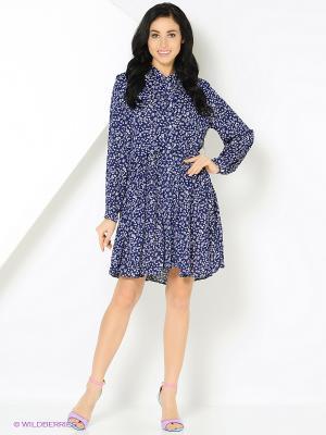 Платье с принтом звезды синее MONOROOM