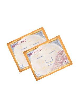 Маска для лица Фитоколлагеновая с лепесками Календулы TaiYan, 60гр. 2 шт. TAI YAN. Цвет: прозрачный
