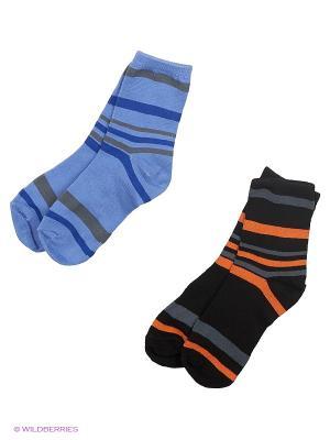 Носки комплект, 2 пары HOBBY LINE. Цвет: черный, голубой