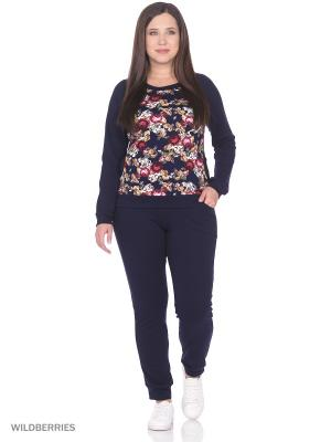 Костюм женский (джемпер, брюки) MARSOFINA. Цвет: темно-синий